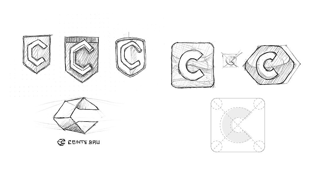 Conte Bau Logo-Entwürfe