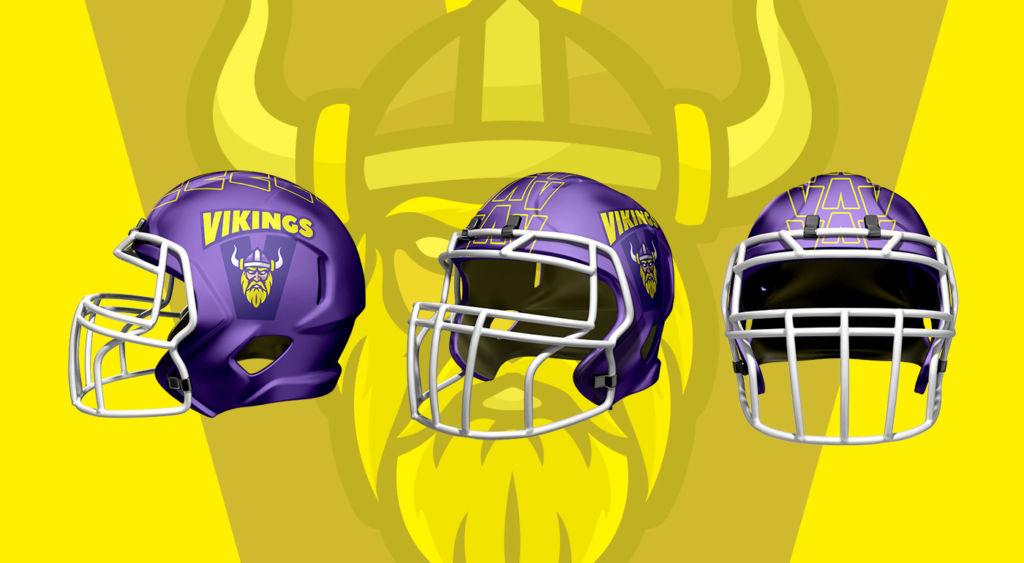 Helmdesign für Rebranding Konzept Vienna Vikings