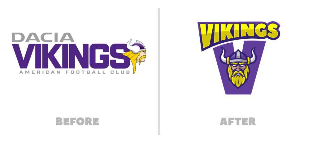 Rebranding Konzept Vienna Vikings: Logovergleich