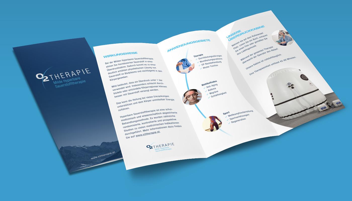 Branding O2Therapie Folder Wickelfalz