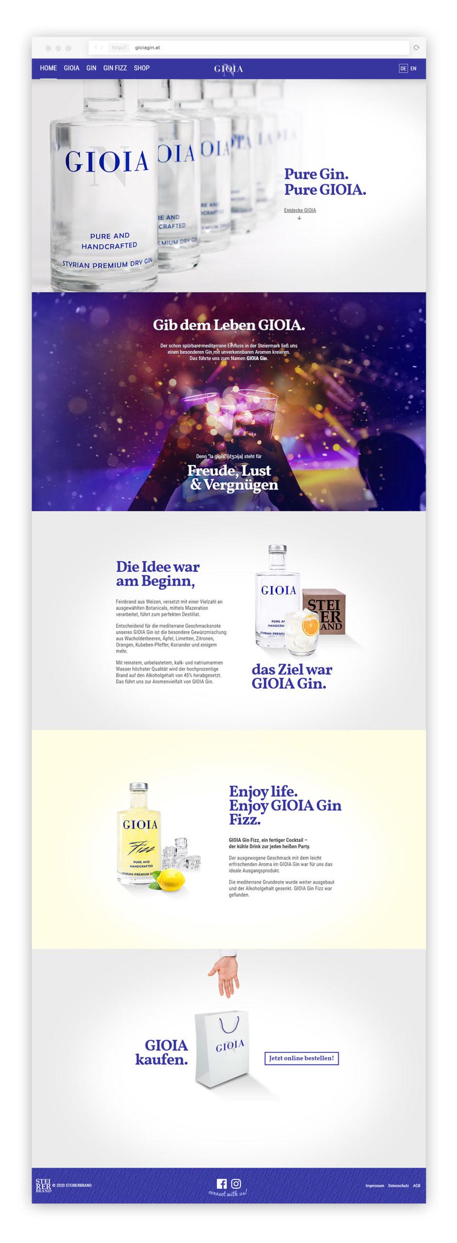 Website Gioia Gin