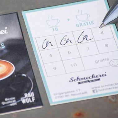 Branddesign Schmeckerei: Café Sammelpass