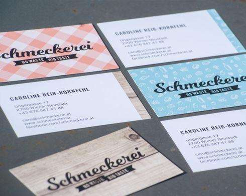 Branddesign Schmeckerei: Visitenkarten