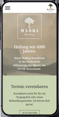 Branding Maori Healing: Mobile Website