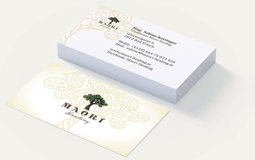 Branding Maori Healing: Visitenkarten