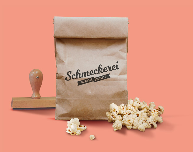 Branddesign Schmeckerei: Popcorntüte
