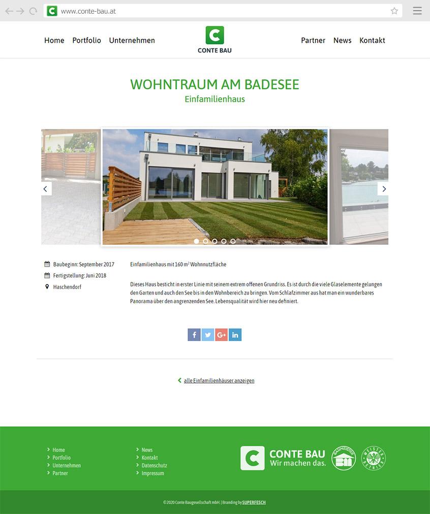 Webdesign Conte Bau Website