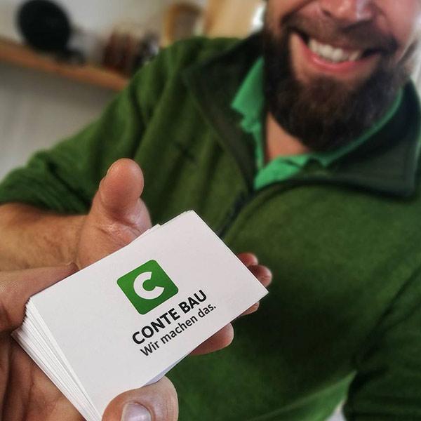 Visitenkarten-Design für Conte Bau