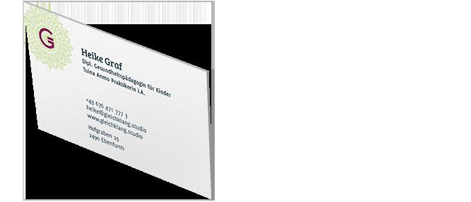 Brand design: Visitenkarte Gleichklang
