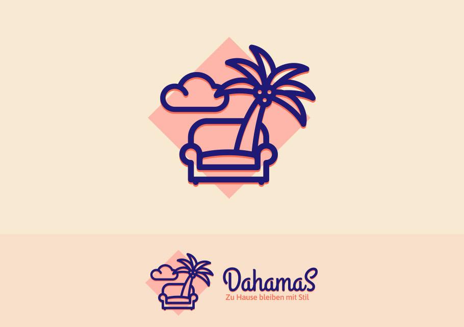 Auch mit Humor kann man visuelle Klischees umgehen: Logo für den Urlaub zu Hause