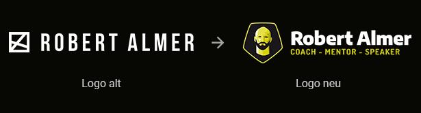 Robert Almer: altes und neues Logo